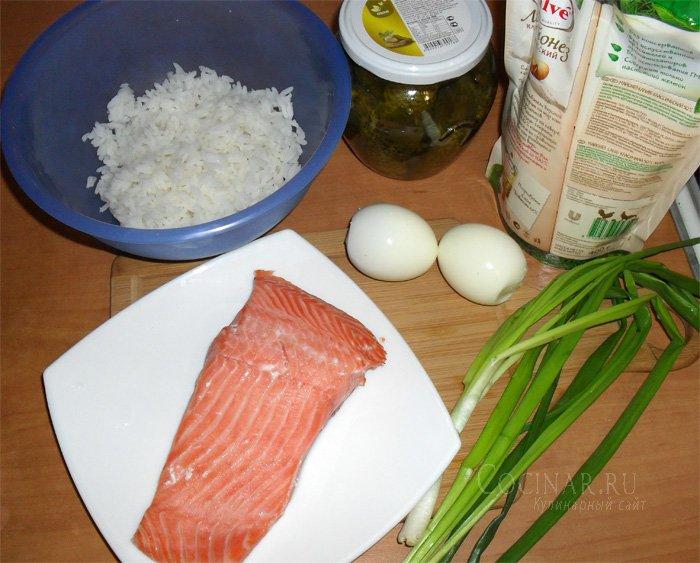 рецепты салатов из вареной форели