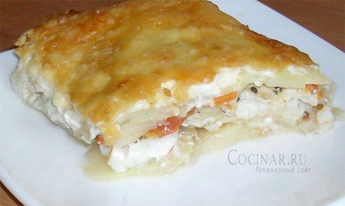 рыба с сыром запеченная в духовке рецепт с фото
