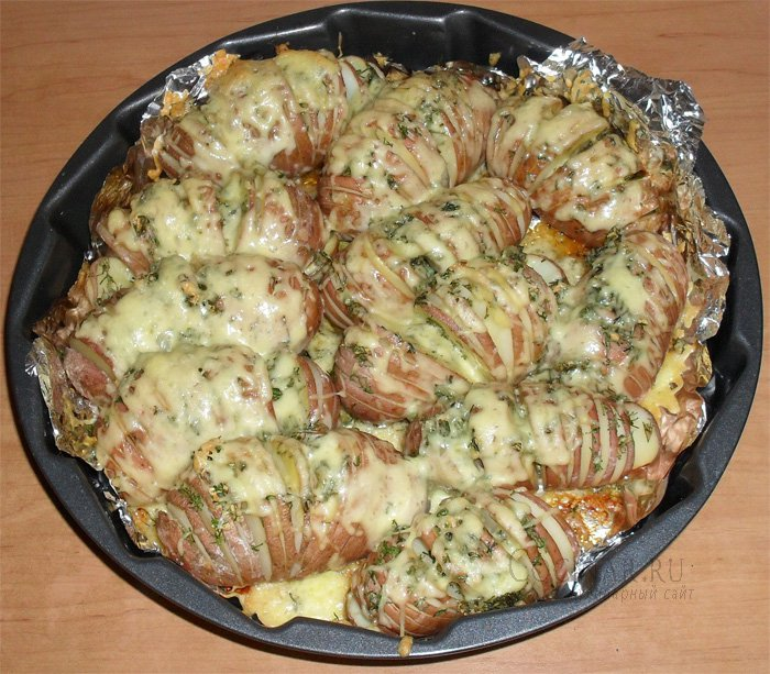 Картошка веер в духовке рецепт