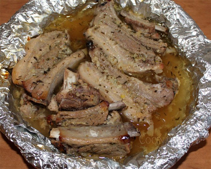 Рецепт говяжьи ребра в фольге в духовке рецепт
