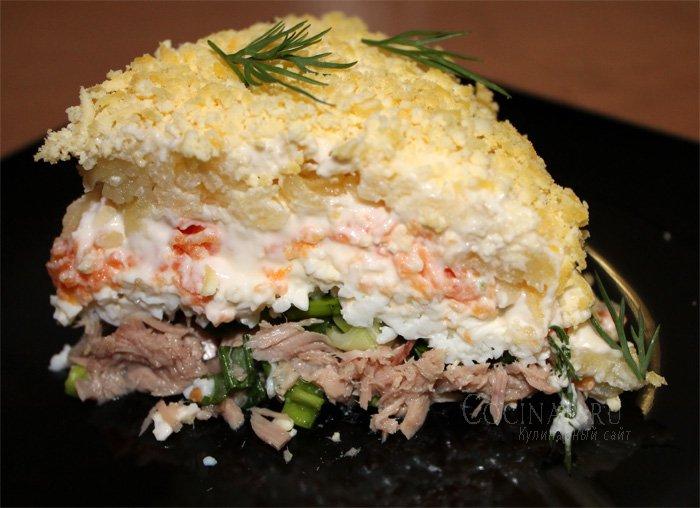 Салат мимоза с фото с картошкой и