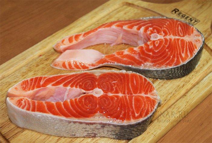 стейки из лосося в духовке пошаговый рецепт