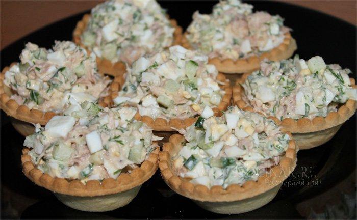 Салат тунец в тарталетках рецепты 185