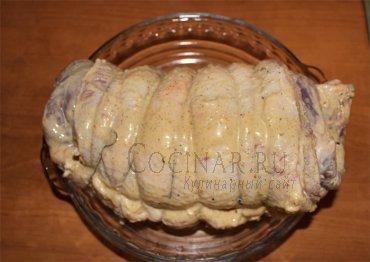Мясной рулет из свинины в аэрогриле